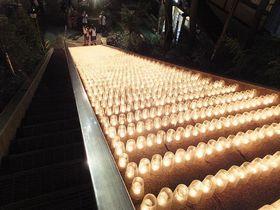 幻想的!草津温泉湯畑ライトアップ&湯畑キャンドル「夢の灯り」