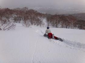 雪の那須高原激走!!標高1,400mからエアーボードで大滑走