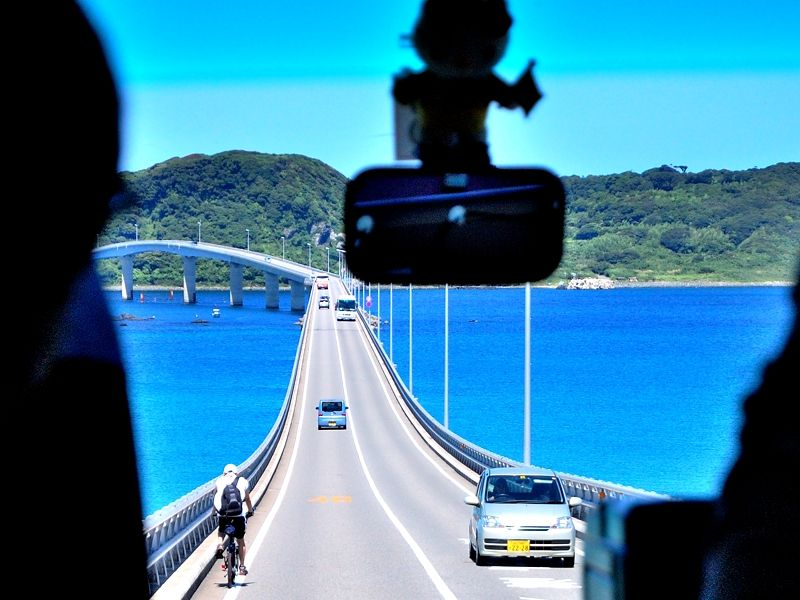 角島大橋は爽快ドライブコース ...
