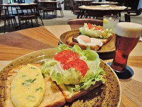緑を背景にタップバーがおしゃれ!サントリー九州熊本工場見学の後は「タップバーレストラン 阿蘇」へ|熊本県|Travel.jp[たびねす]