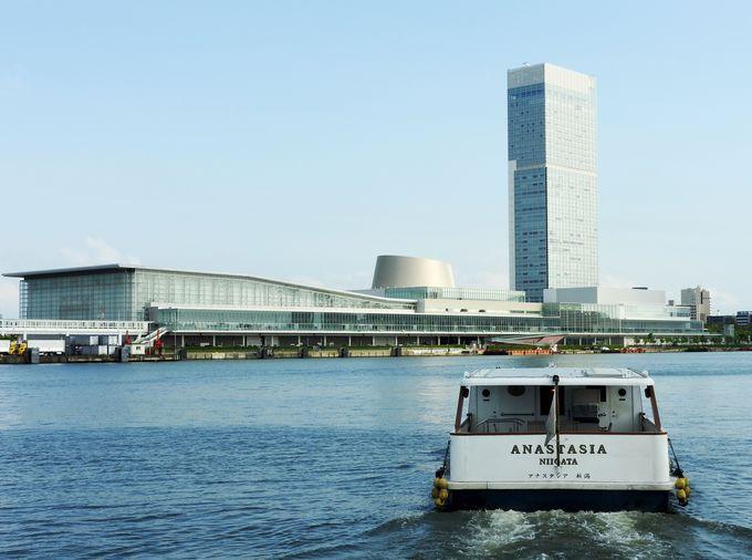 新潟港、明治五大開港のレトロ感と超モダンが交差する風景