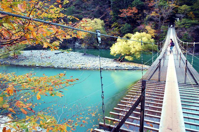 """絶景""""夢の吊り橋""""は必訪!紅葉と共に楽しむ静岡「寸又峡」"""