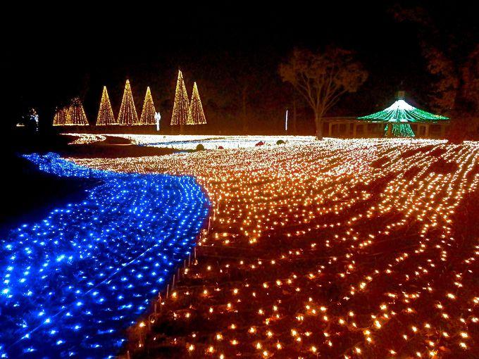 和のイルミ「日本昔ばなし」で楽しむ「木曽三川公園センター」岐阜県海津市