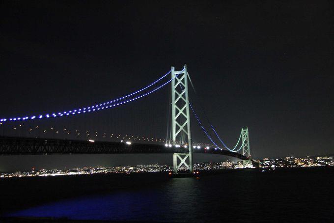 温泉に入りながら明石海峡大橋の夜景を見る贅沢!淡海荘は明 ...