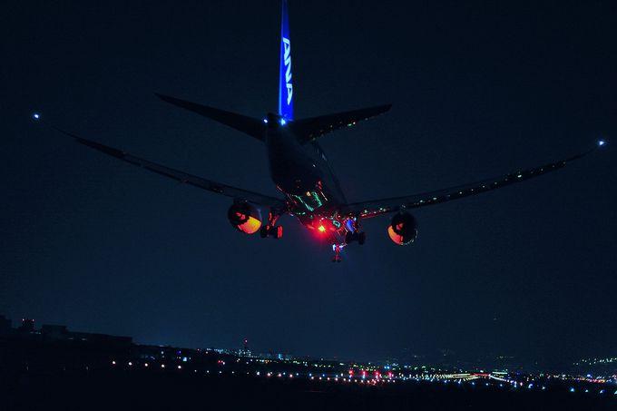 ひと味違う夜景スポット。夜の大阪伊丹空港