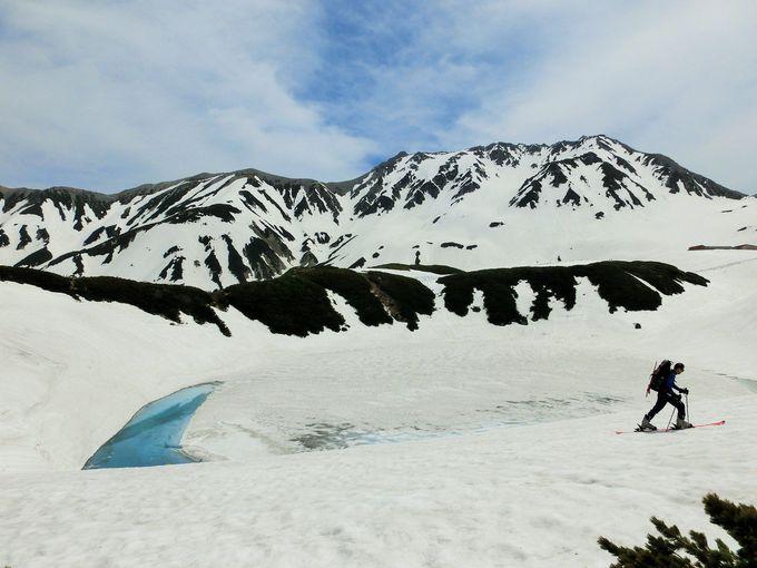 [雪のみくりが池]立山黒部アルペンルートの中心・室堂を代表する景観地