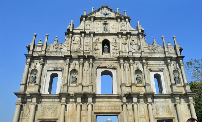 マカオの建造物と言ったらコレ!聖ポール天主堂跡