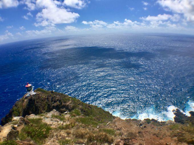 山、海、島々を見渡せ、大自然のパワーを感じられる頂上へ