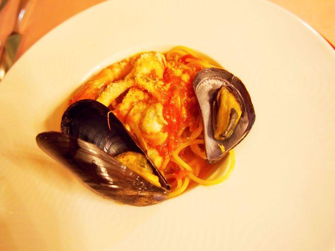 地中海料理に舌鼓。