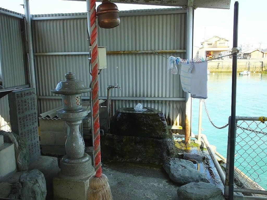 海辺のうちぬき水、弘法大師の加持水「弘法水」