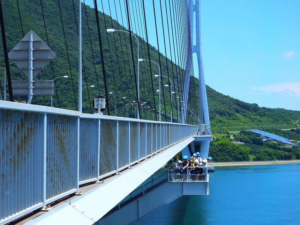 橋げた部:多々羅大橋の真ん中から見る