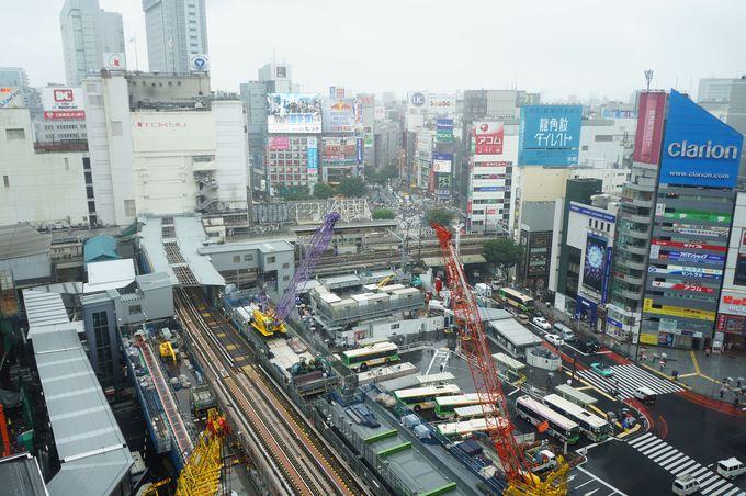 再開発工事の全貌が見える!渋谷の「今」と、最旬アート!