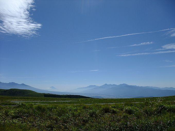 晴れた日は遥か遠くに富士山の姿を見ることができます