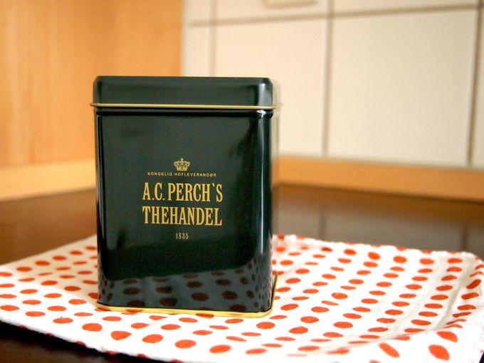 老舗紅茶店A.C.Perch's Thehandelの紅茶 40DKK〜