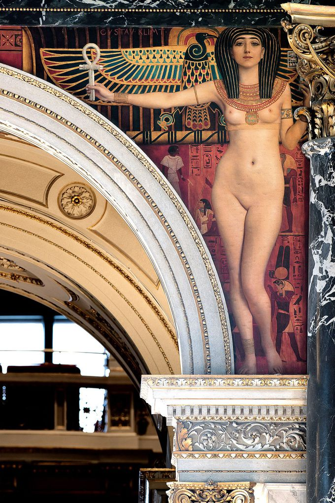 美術史美術館にはクリムト・ブリッジが再登場!