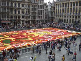 ブリュッセルの2年に一度の花の祭典「フラワーカーペット」を楽しもう!