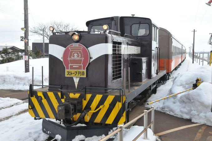 ストーブ列車とは津軽鉄道が冬季限定で運行する、各車両にダルマストーブがある名物列車!
