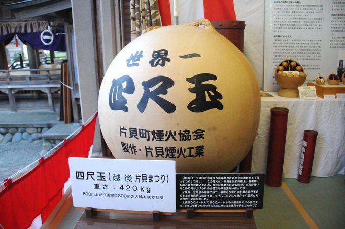 片貝まつり花火大会で打ち上げられる四尺玉の重さはなんと420kg!