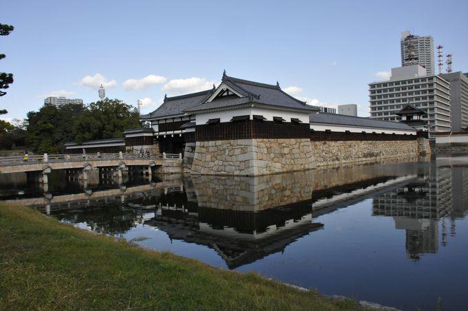 広島城 御門橋と櫓