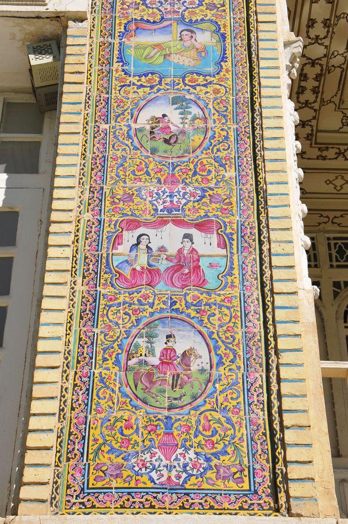 エラム宮殿のタイルワーク