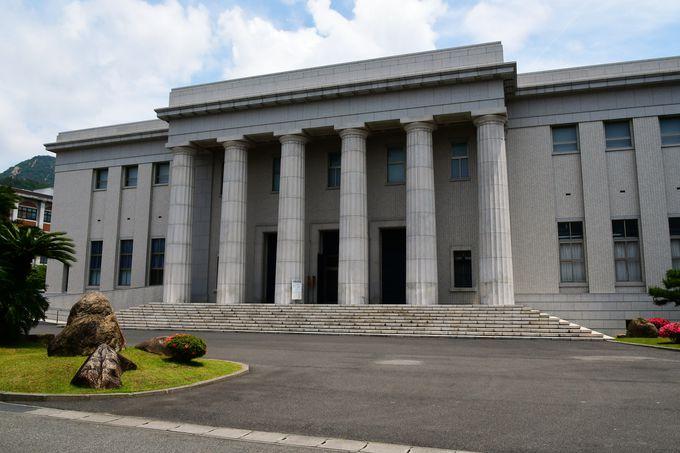 旧海軍の資料や特攻隊員の遺書が納められている教育参考館