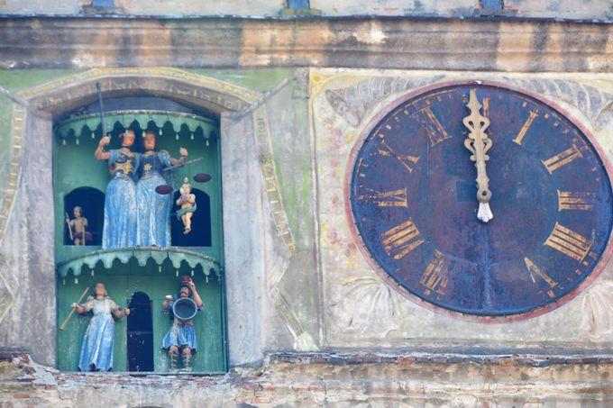 シギショアラのシンボル、時計塔