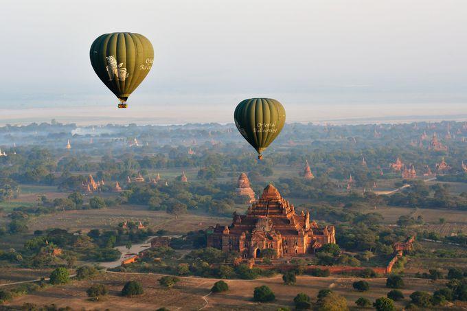 熱気球からの絶景