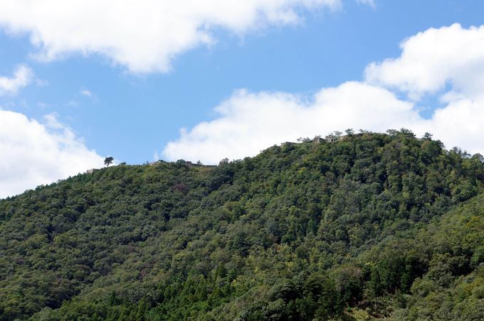 山の上に築かれた壮大な城