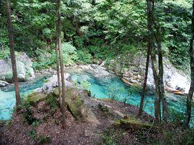 限りなく透明に近いブルーの川 ~阿寺渓谷(長野県大桑村)|長野県|トラベルjp<たびねす>