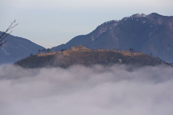 竹田城を正面から眺められる立雲峡