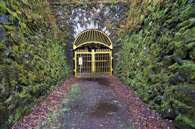 かつて電車を通していたトンネル「第三通洞」