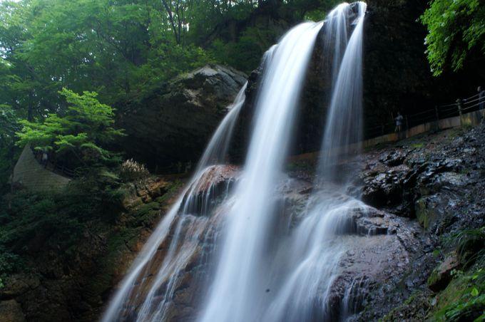 離れてみると美しい滝