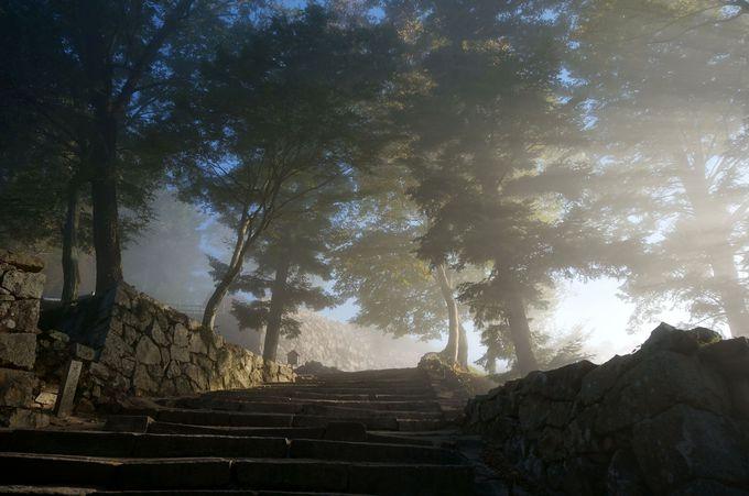 備中松山城へ登る