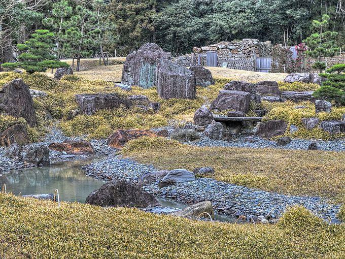 金石城跡庭園 〜 調査をもとに復元された城郭庭園