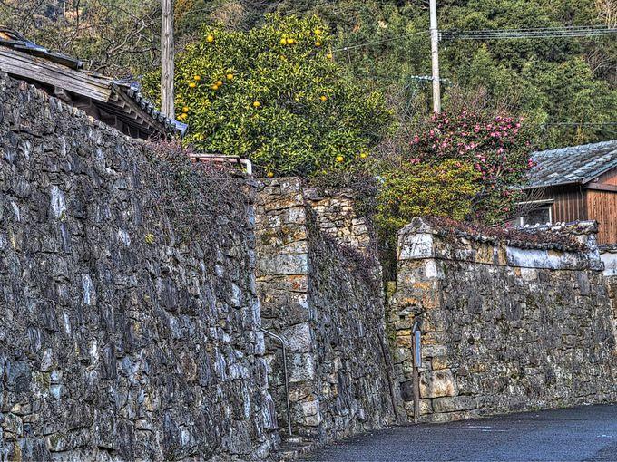 厳原地区 〜 城下町の名残の石垣がいろんなところに