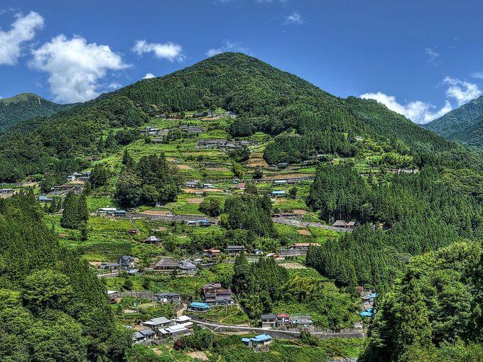 伝統的な山村集落として価値の高い落合地区