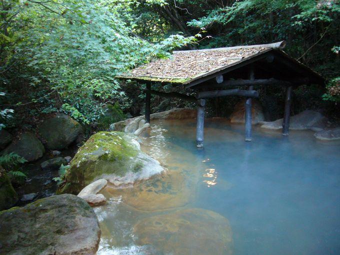 自然豊かな露天風呂 旅館山河
