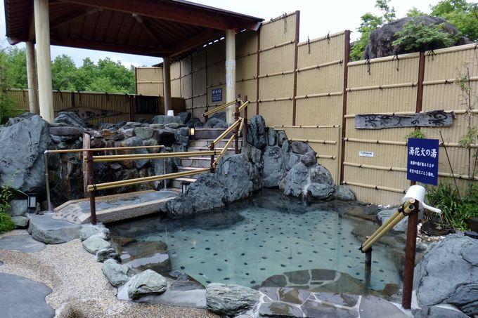 姉妹宿「ホテル夢しずく」の温泉へ