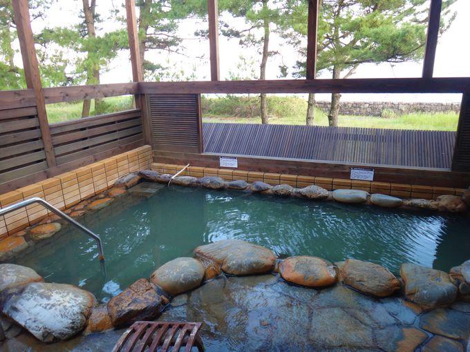 砂むし温泉と露天風呂を満喫