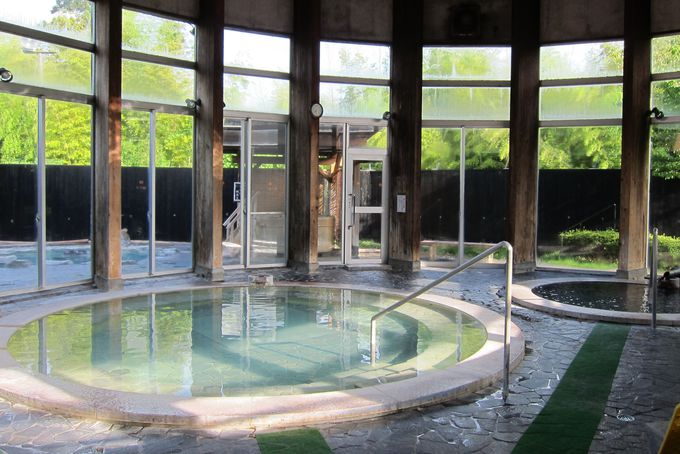 開放感溢れる大浴場「豊前」と「豊後」