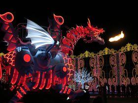 ハウステンボスのイルミは見所満載!炎を噴く光のドラゴンロボットが初登場|長崎県|トラベルjp<たびねす>