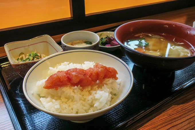 福岡グルメ「辛子明太子」の朝食が美味しい
