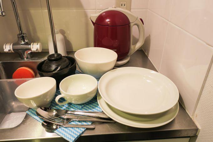 ミニキッチン付きの客室もオススメ!