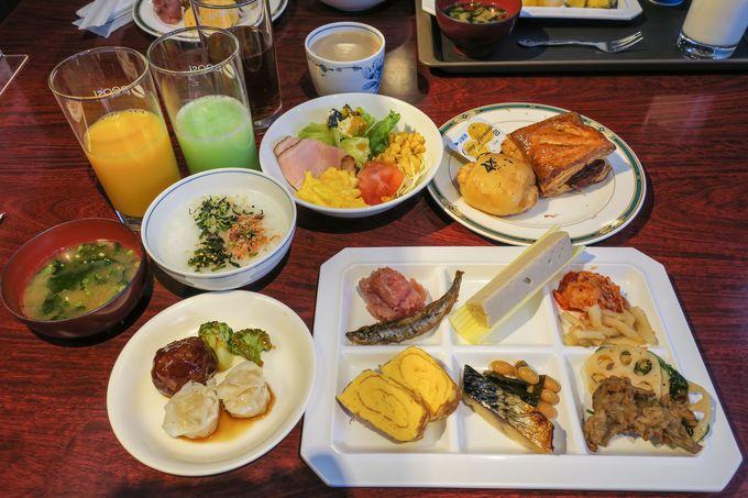 種類豊富な朝食ビュッフェも魅力