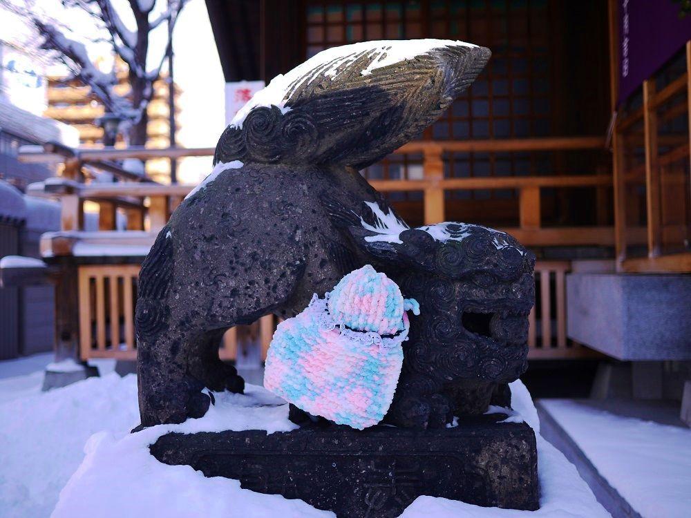 子宝祈願のパワーを持つ、北海道最古の狛犬さん