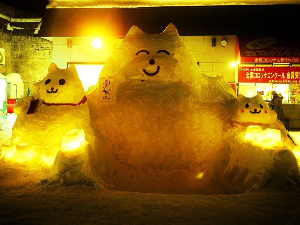 巨大雪だるまが待っている!