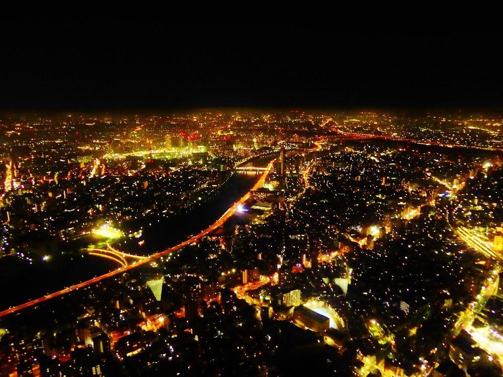 「東京スカイツリー」で見よう!光り輝く絶景夜景