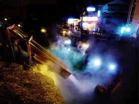 夜の草津温泉・湯畑ライトアップは最高の浴衣デートスポット