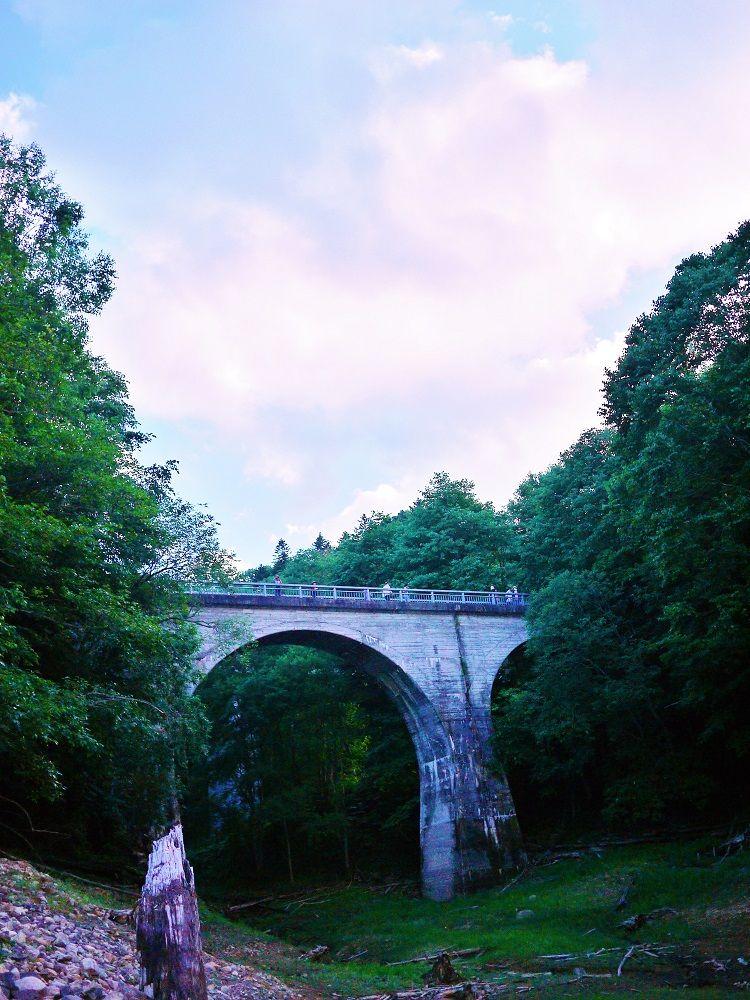 歴史と大自然を感じられる観光スポット「旧国鉄士幌線アーチ橋梁群」