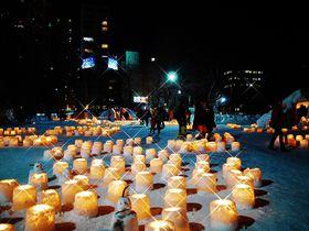 冬の札幌にゆらゆら煌く優しい灯「ゆきあかりin中島公園」